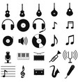 music set black icon on white vector image vector image