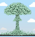 nuclear explosion of denominations vector image