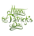 Patrick Day calligraphy greetings vector image vector image