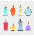 perfume bottles set aroma and fragrance vector image vector image