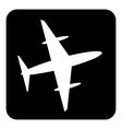Plane button vector image vector image