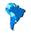 political map of south america vector image vector image