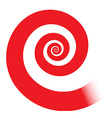 red spiral vector image vector image