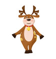 reindeer christmas deer winter snow holiday animal vector image