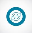 reload icon bold blue circle border vector image
