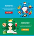 restaurant banners set vector image vector image