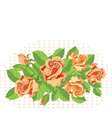 Roses background fine vector image