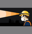 safety equipment with headlamp construction