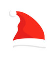 santa claus red hat isolated santa christmas hat vector image vector image
