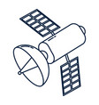 satellite technology cartoon vector image vector image