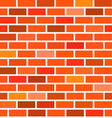 Seamless Bricks Background - Red and Orange Brick vector image