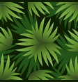 seamless pattern green leaves vector image vector image