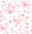 seamless pattern pink hearts vector image