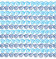 seamless repeating pattern blue waves vector image