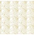 Seashells seamless pattern Gold vector image vector image