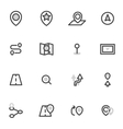 set of icons navigation location vector image