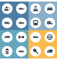 Set of simple car icons