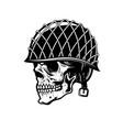 soldier skull in military helmet design element vector image