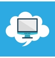 start up business computer cloud graphic isolated vector image