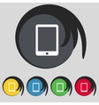 Tablet sign icon smartphone button Set colur vector image