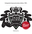 tiger blood vector image