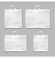 White empty reusable plastic shopping bags with vector image
