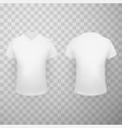 white t shirt front and back view realistic vector image