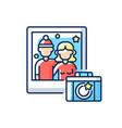 winter photoshoot rgb color icon vector image