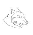 wolf portrait lines vector image
