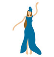 woman is dancing hand drawn design on white vector image