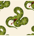 seamless pattern with hand drawn snake vector image