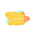 simple summer badge on colored blobs vector image