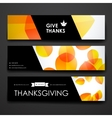Set of modern design banner template in autumn vector image