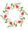 Watercolor wedding wreath vector image