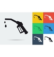 icon of refueling nozzle vector image