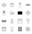 16 packaging icons vector image vector image