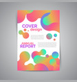annual report template modern flyer vector image vector image