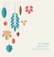autumn abstract floral background with place