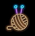 ball of thread neon glow icon vector image vector image