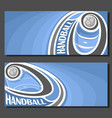 banners for handball vector image vector image