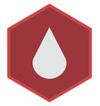 blood drop on a white background vector image vector image