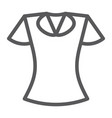 blouse line icon clothing and fashion vector image
