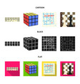 board game cartoonblackflat icons in set vector image vector image