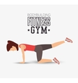 bodybuilding fitness gym woman exercising vector image