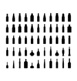 bottle collection silhouette vector image vector image