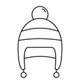 boy winter hat icon outline style vector image vector image