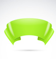 bright green ribbon badge sign banner vector image vector image