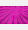 bright pink striped retro comic background vector image vector image