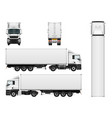cargo truck trailer template vector image vector image