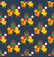 chicken with presents pattern vector image vector image